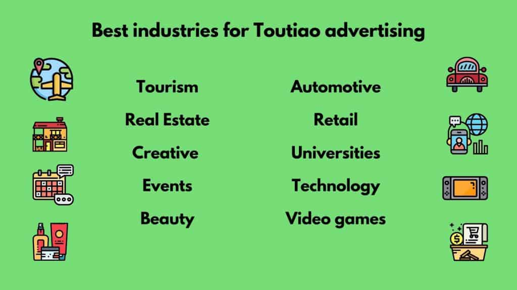 best industries for toutiao advertising