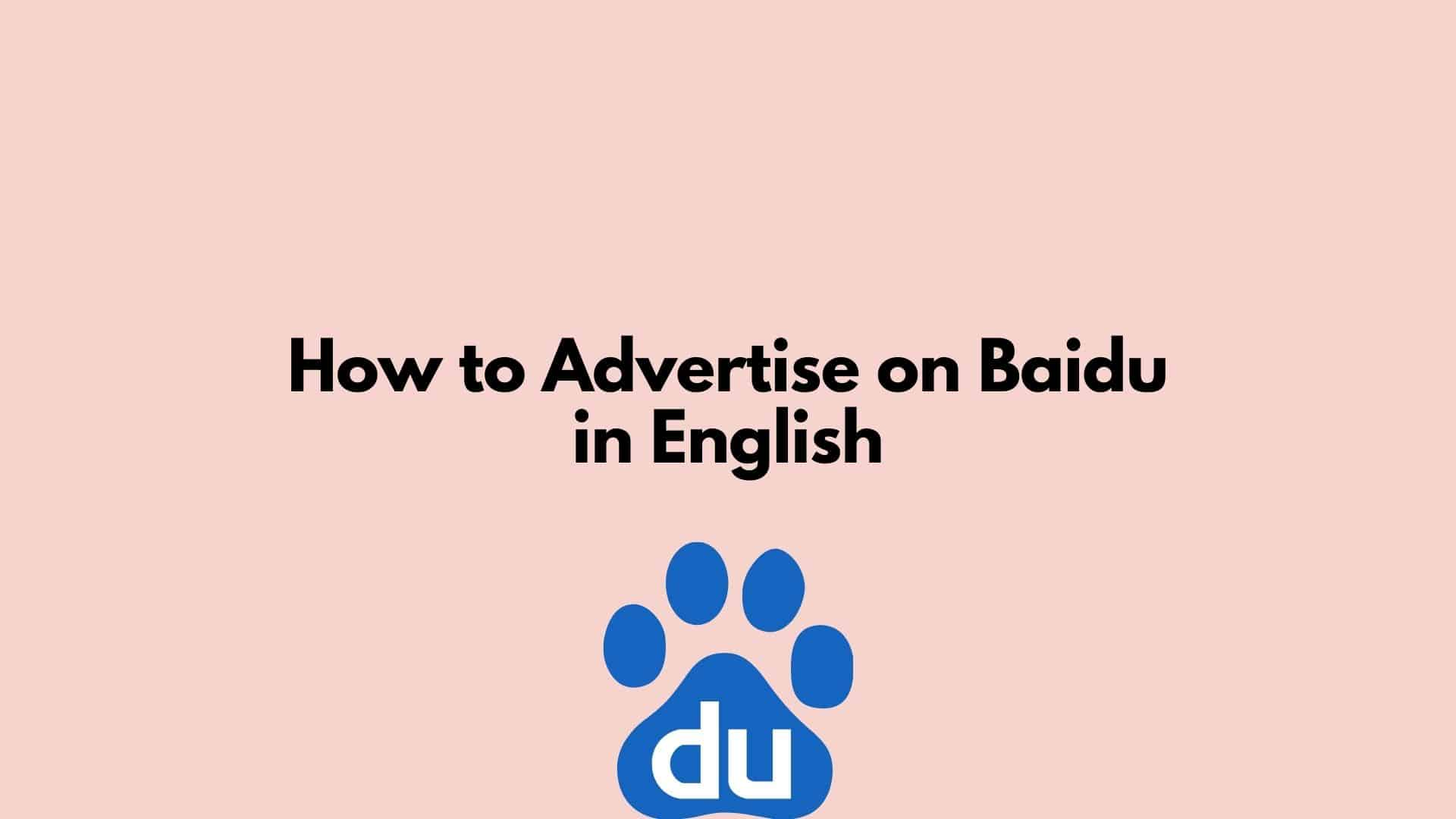 How to Advertise on Baidu in English