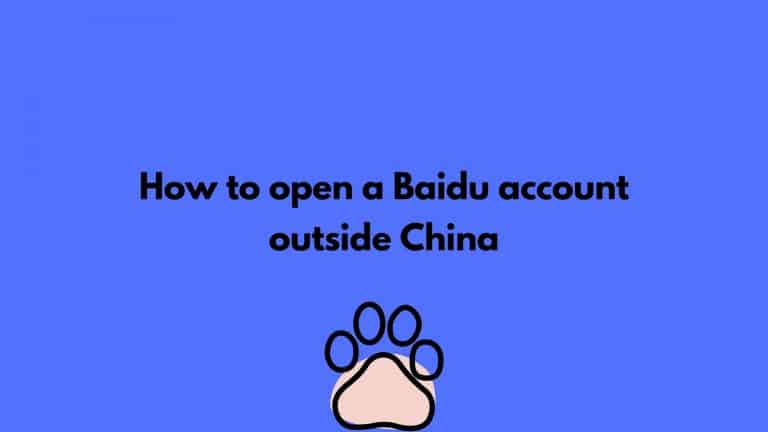 how to open baidu account outside china