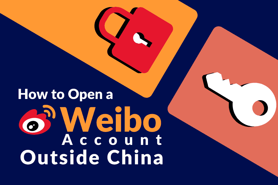 How to open a Weibo account outside China